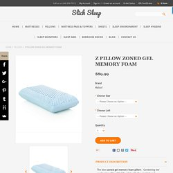 Zoned Gel Memory Foam Pillow - SlickSleep.com