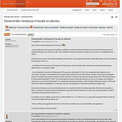 Zoneminder: lentezza in locale su ubuntu