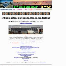 Zonnepanelen inkoop acties Nederland