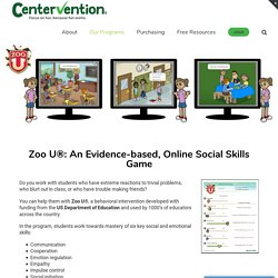 Zoo U Social Skills Game