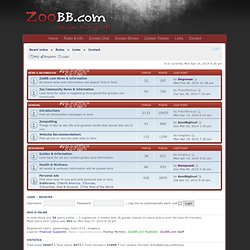 ZooBB.com • A Discussion Forum for Animal Lovers