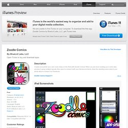 Zoodle Comics for iPad on the iTunes App Store