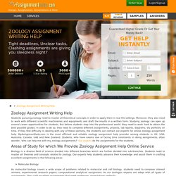 Zoology Homework Writing Online