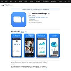 ZOOM Cloud Meetings on the AppStore