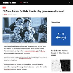 26 Zoom Games for Kids: How to play games on a video call