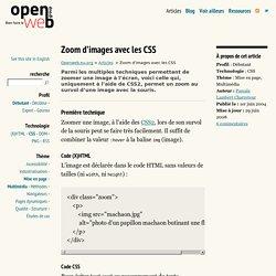 Zoom d'images avec les CSS