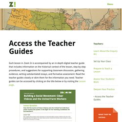 Zoom In - Access the Teacher Guides