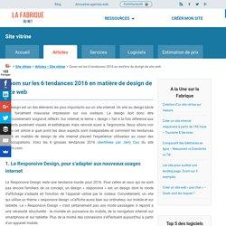 Zoom sur les 6 tendances 2016 en matière de design web