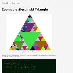 Zoomable Sierpinski Triangle - Road to Larissa