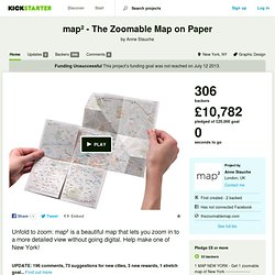 map² - The Zoomable Map on Paper: New York by Anne Stauche