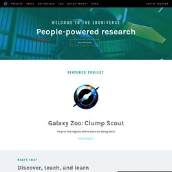 Zooniverse - Real Science Online - Iceweasel