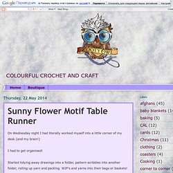 Sunny Flower Motif Pattern
