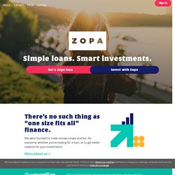 Zopa UK Loans - Get a great rate loan from Zopa Lenders