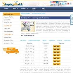 Buy Zopiclone Online UK, Zopiclone Sleeping Tablets @Sleeping Pills 4UK