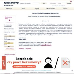Firma zorientowana na człowieka - rynekpracy.pl