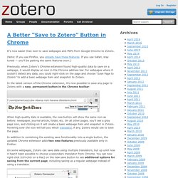 "Blog » Blog Archive » A Better ""Save to Zotero"" Button in Chrome"