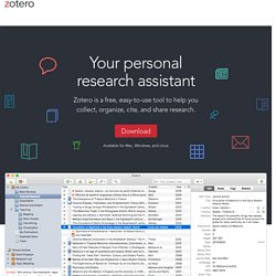 Zotero - The Next-Generation Research Tool