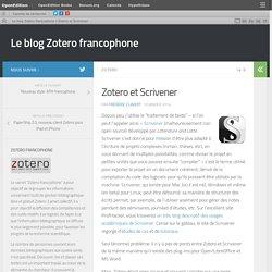 Zotero et Scrivener
