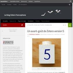 Le blog Zotero francophone