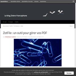 ZotFile : un outil pour gérer vos PDF
