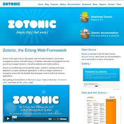 Zotonic, The Erlang CMS — Zotonic