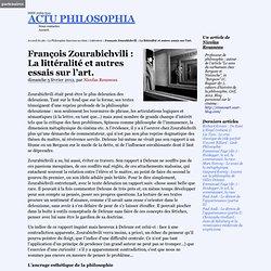 François Zourabichvili : La littéralité et autres essais sur l'art.