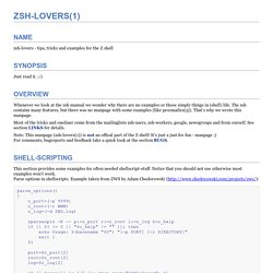 ZSH-LOVERS(1)