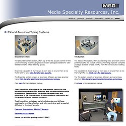 ZSound Acoustical Tuning Systems