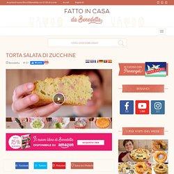 TORTA SALATA DI ZUCCHINE PROSCIUTTO E FORMAGGIO