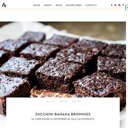 Zucchini Banana Brownies