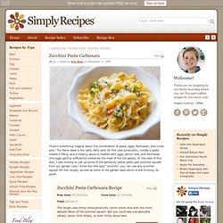 Zucchini Pasta Carbonara Recipe