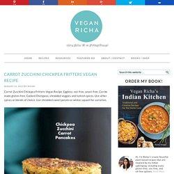 Carrot Zucchini Chickpea Fritters Vegan Recipe