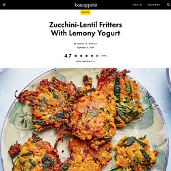Zucchini-Lentil Fritters Recipe