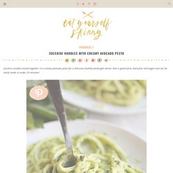 Zucchini Noodles with Creamy Avocado Pesto (Recipe)