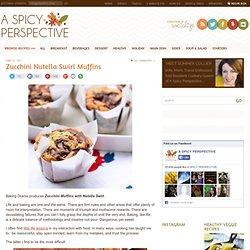 Zucchini Muffins with Nutella Swirl