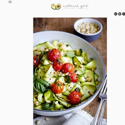 Zucchini Pappardelle with Roasted Tomatoes and Basil — Natural Girl Modern World