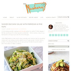 Shaved Zucchini Salad with Parmesan & Pine Nuts