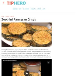 How to Make Zucchini Parmesan Crisps