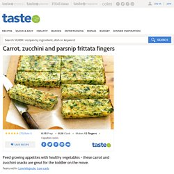 Carrot, Zucchini And Parsnip Frittata Fingers Recipe