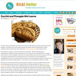 Wheat Free, Sugar-Free, Vegan Zucchini and Pineapple Muffin Recipe