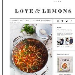 Zucchini & Sweet Potato Noodle Minestrone Recipe