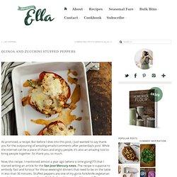 Quinoa and Zucchini Stuffed Peppers - Naturally Ella