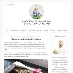 Glutenfritt zucchinibröd, lågkolhydrat - Clean Eating by Annika