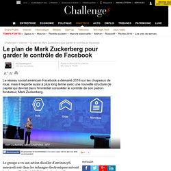 Le plan de Mark Zuckerberg pour garder le contrôle de Facebook