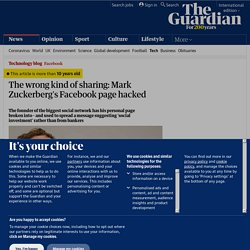 The wrong kind of sharing: Mark Zuckerberg's Facebook page hacked | Technology