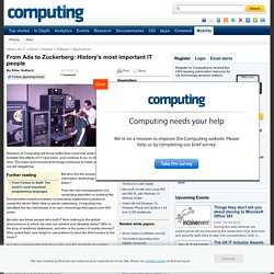 From Ada to Zuckerberg: History's most important IT people - Computing