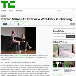 An Interview With Mark Zuckerberg