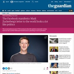 The Facebook manifesto: Mark Zuckerberg's letter to the world looks a lot like politics