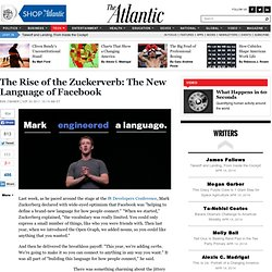 The Rise of the Zuckerverb: The New Language of Facebook - Ben Zimmer - Technology