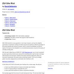 ZUI Site Riot